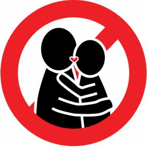 Ne pas montrer son affection en public