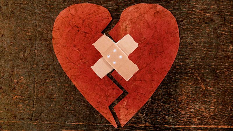 rood gebroken hart